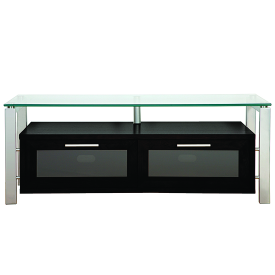Plateau Decor 50 B S Tv Stand Up To 55 Tvs In Black Oak Finish With