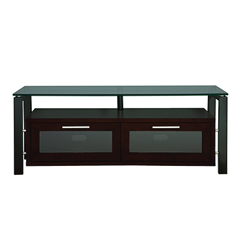"Plateau DECOR 50 E-B-BG TV Stand up to 55"" TVs in Espresso finish with Black Frame and Black Glass. Plateau-Decor-50-E-B-BG"