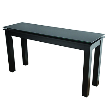 Plateau SL-THS 54 x 16 B-BG Modern Glass Top Accent Table in Black finish. Plateau-SL-THS-54-x-16-B-BG