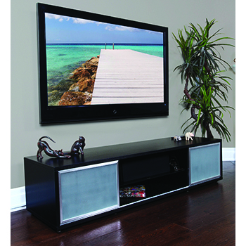 "Plateau SR-V 75 BB-S TV Stand up to 80"" TVs in Black Oak finish. Copy PLATEAU-SR-V-75-BB-S-COPY"