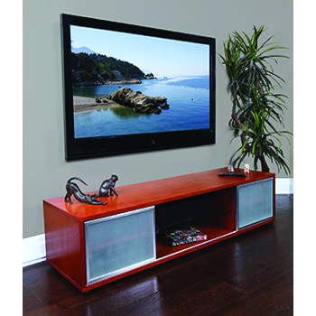"Plateau SR-V 75 WB-S TV Stand up to 80"" TVs in Walnut finish.  PLATEAU-SR-V-75-WB-S"