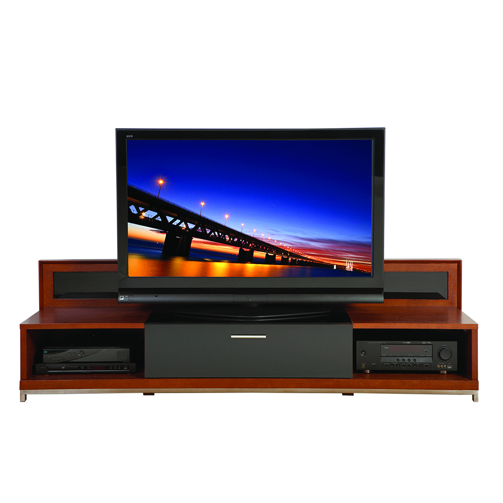Plateau valencia 79w tv stand up to 85 tvs in walnut finish for Miroir 50in projector review