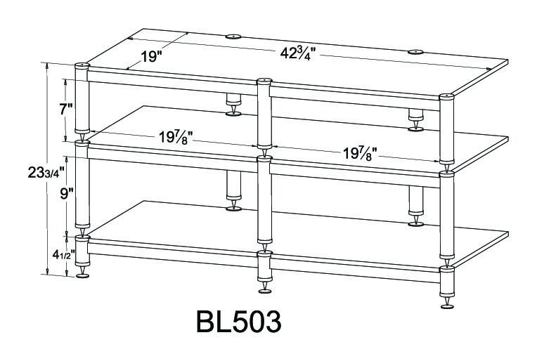 Vti Bl Series Bl503 3 Shelf Audio Rack Tv Stand Up To 50