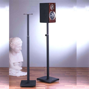 "VTI BLE101B Surround Sound Adjustable height (33.75"" - 59"") Speaker Stands in Black color. VTI-BLE101B"