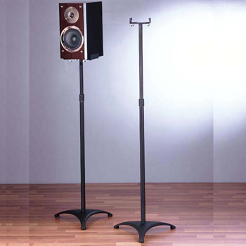 VTI BLE201 Surround Sound Speaker Stands in Black color. VTI-BLE201