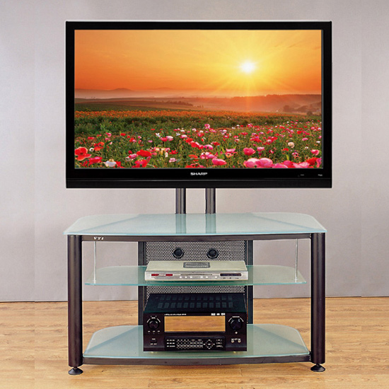 VTI RFR 403 TV Stand with Black Frame and Frosted Glass up to 55
