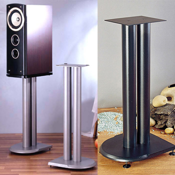 VTI UF Series Speaker Stands in Black or Grey Silver color with iron cast base - Models: UF19; UF24; UF29.