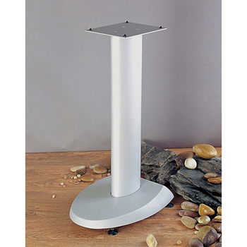 "VTI VSP29SB - 29"" Height Pair of Speaker Stands with Silver Pole and Gray Base. VTI-VSP29S"