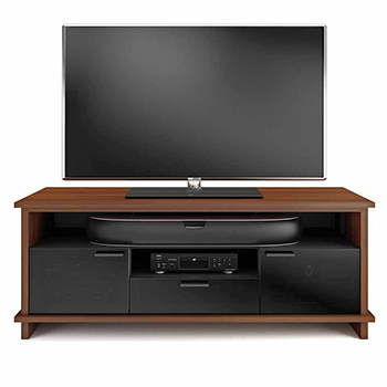 "BDI BRADEN 8828 TV Stand up to 75"" Flat Panel TVs in Natural Stained Cherry finish."