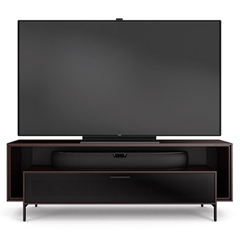 "BDI CAVO 8167 Low Profile TV Stand up to 70"" Flat Panel TVs in Espresso Stained finish."