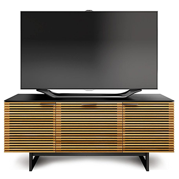 "BDI CORRIDOR 8177 TV Stand up to 70"" TVs in White Oak finish."