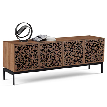 "BDI Elements 8779-CO Audio Cabinet TV Stand up to 85"" TV's in Natural Walnut color and Mosaic Patterns doors."
