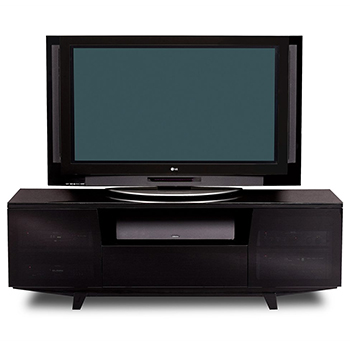 "BDI Marina 8729-2 Triple TV Stand up to 82"" TVs in Black color  BDI-Marina-8729-2-black"
