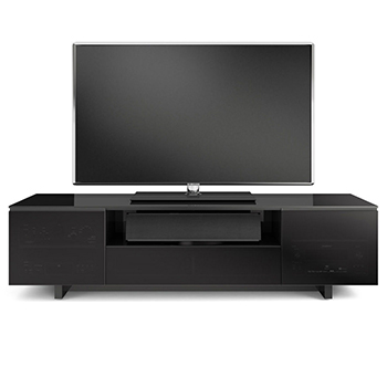 "BDI NORA SLIM 8239-S TV Stand up to 82"" Flat Panel TVs in Gloss White finish. BDI-NORA-8239-S-WHT"