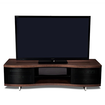 "BDI OLA 8137 TV Stand up to 73"" TVs in Chocolate Stained Walnut finish. BDI-OLA-8137"
