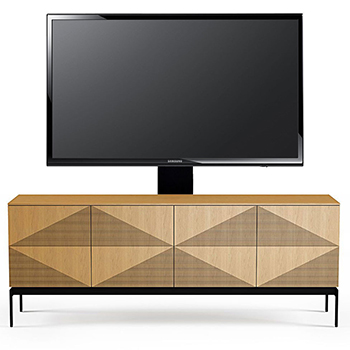 "BDI Zona 8859 TV Stand up to 85"" Flat Panel TVs in White Oak Color. BDI-Zona-8859-White"