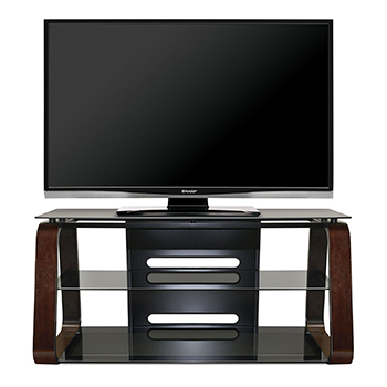 "Bello CW349 Curved Wood TV Stand up to 55"" TVs. Bello-CW349"