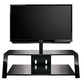 "Bello TP4452 TV Stand up to 60"" TVs in Black finish. Bello-TP4452"