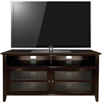 "Bello WAVS99152 Wood TV Stand in Dark Espresso Finish up to 55"" TVs. Bello-WAVS99152"