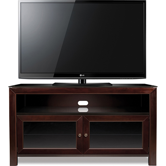 Bello WMFC503 Deep Mahogany Finish Wood TV Stand up to 55