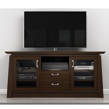"Furnitech ELEGANTE- Contemporary Console for 75"" TVs. Furnitech-ELEGANTE"