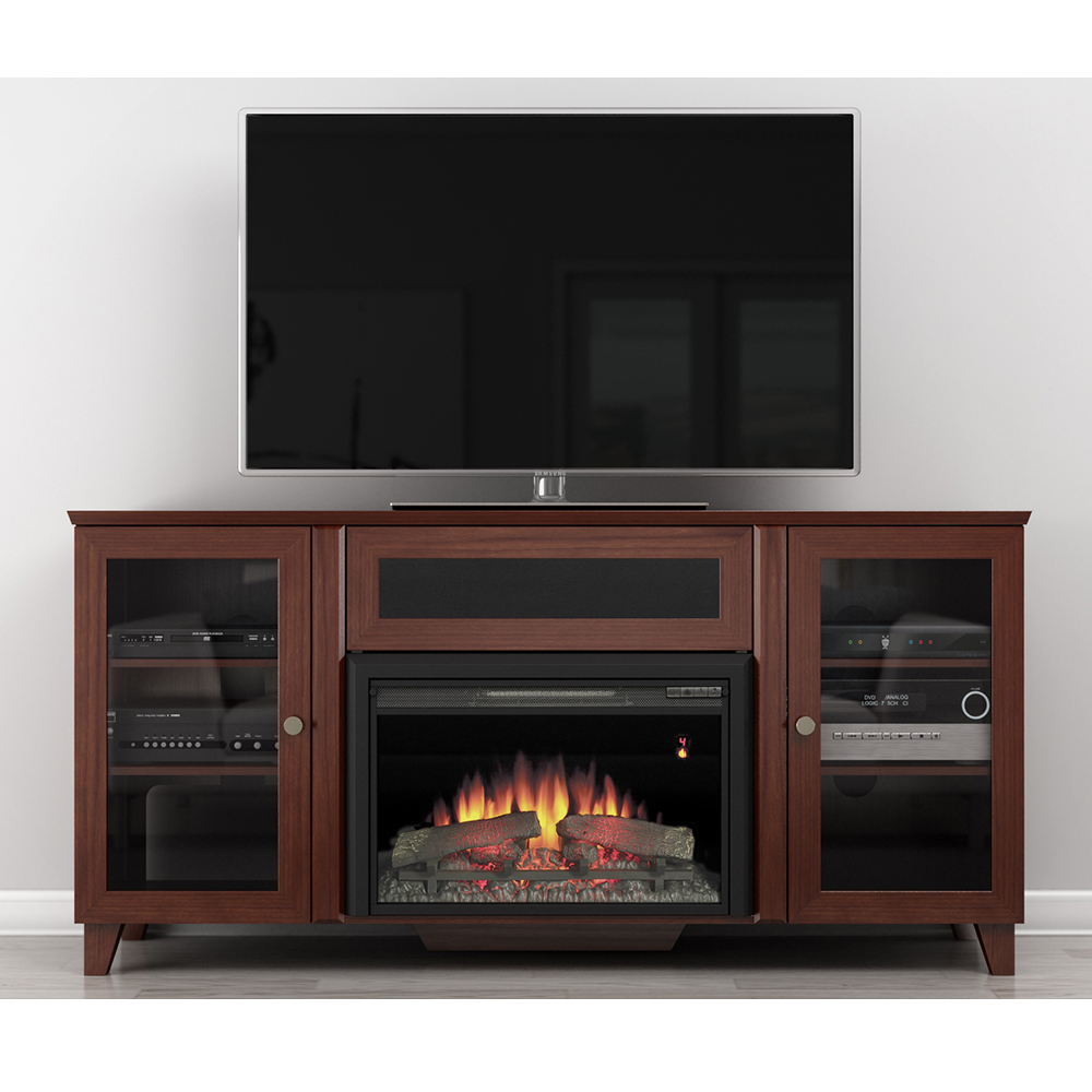 Dark Tv Stand In A Small Room