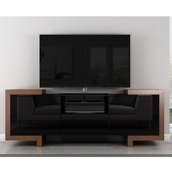 Furnitech Ft75fa Contemporary Tv Stand Media Console Up