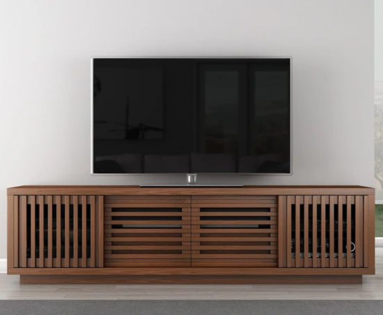 Furnitech FT82WS Contemporary Rustic TV Stand Media Console up to 83
