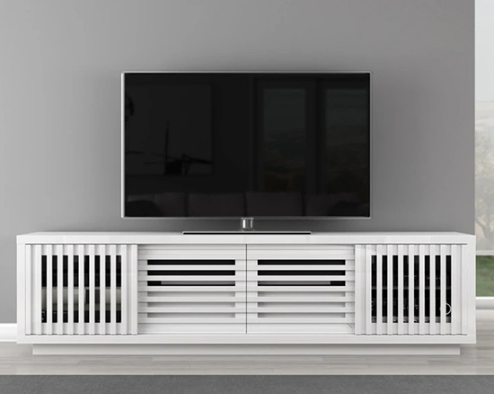 Furnitech FT82WSLW Contemporary TV Stand Media Console up to 83