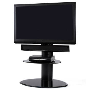 "Off The Wall Motion TV Stand up to 32"" - 55"" TVs in Black finish."