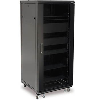 "SANUS CFR2115 Component Series 34"" Tall AV Rack in Black finish. Copy SANUS-CFR2127"