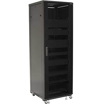 "SANUS CFR2127 Component Series 55"" 27U Tall AV Rack in Black finish. Copy SANUS-CFR2136"
