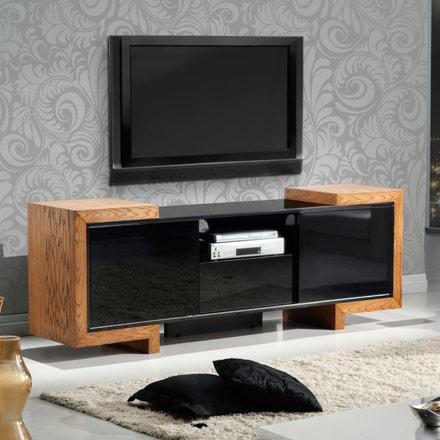 Furnitech FT75FA Contemporary TV Stand Media Console for ...