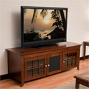 "Tech Craft CRE60 TV Stand up to 65"" TVs in Walnut finish. Tech-Craft-CRE60"