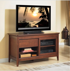 Tech Craft NCL48 Walnut TV Stand up to 50