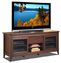 "Tech Craft NCL62 Walnut TV Stand up to 60"" TVs. Tech-Craft-NCL62"