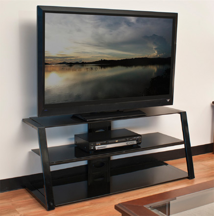 Tech craft pcu48 48 wide tv stand up to 52 tvs in black for Tech craft tv stands
