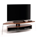 "Techlink Air Curve AC150WSG TV Stand up to 70"" TVs in Walnut & Satin Grey color."