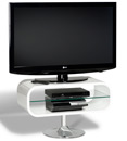 "Techlink Opod OP80W TV Stand up to 37"" TVs in High Gloss White finish. Techlink-Opod-OP80W"