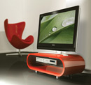 "Techlink Ovid OV95R TV Stand up to 50"" TVs in High Gloss Red finish. Techlink-Ovid-OV95R"