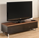 "Techlink Panorama PM120W Low Cabinet up to 55"" TVs in Walnut color. Techlink-Panorama-PM120W"