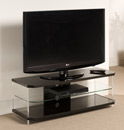 "Techlink Air AI110B TV Stand up to 55"" TVs in Gloss Black finish. Techlink-Air-AI110B"