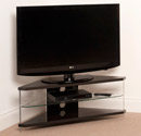 "Techlink Air AI110BC Corner TV Stand up to 46"" in Piano Black color. Techlink-Air-AI110BC"