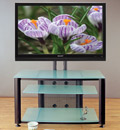 "VTI HFR 403 TV Stand with Black Frame and Frosted Glass up to 55"" Flat Panel TVs. VTI-HFR403BF"