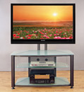"VTI RFR 403 TV Stand with Black Frame and Frosted Glass up to 55"" TVs VTI-RFR403BF"
