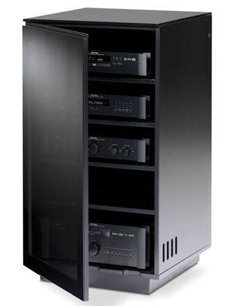 Bdi Mirage 8222 Audio Tower Cabinet In Black Color