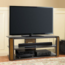 "Bello AVSC2131 TV Stand up to 60"" TVs with Natural Finish Bent Wood & Dark Pewter. Bello-AVSC2131"