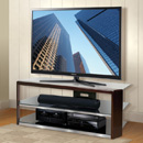 "Bello AVSC2164 TV Stand in Dark Espresso Wood Frame up to 65"" TVs. Bello-AVSC2164"