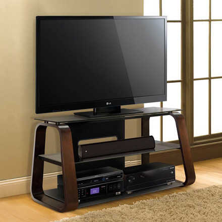 Bello CW349 Curved Wood TV Stand up to 55
