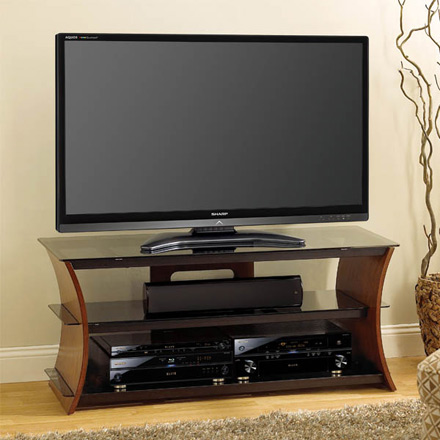 Bello CW356 Curved Wood TV Stand up to 60